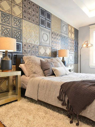 卧室背景墙设计实景图