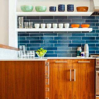 长方形砖砌厨房瓷砖装潢图