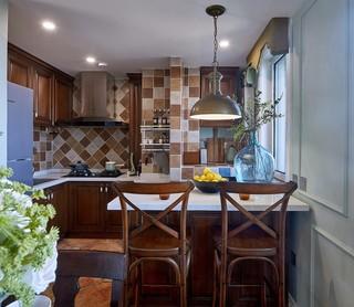 二居室美式风格厨房装修效果图
