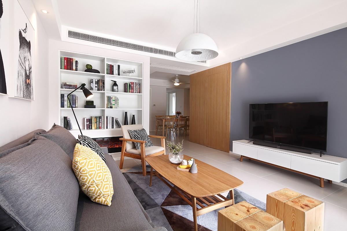 125平米北欧风格客厅装修效果图