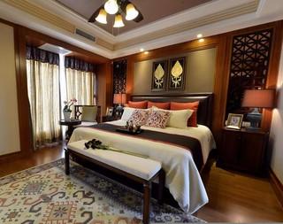 东南亚风格三居卧室每日首存送20