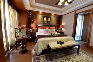 东南亚风格三居卧室装修效果图