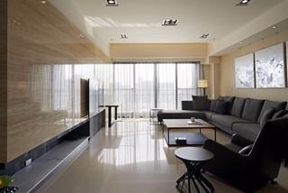 现代简约风格三居客厅装修设计图