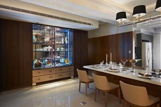 现代简约风格三居餐厅装修设计图