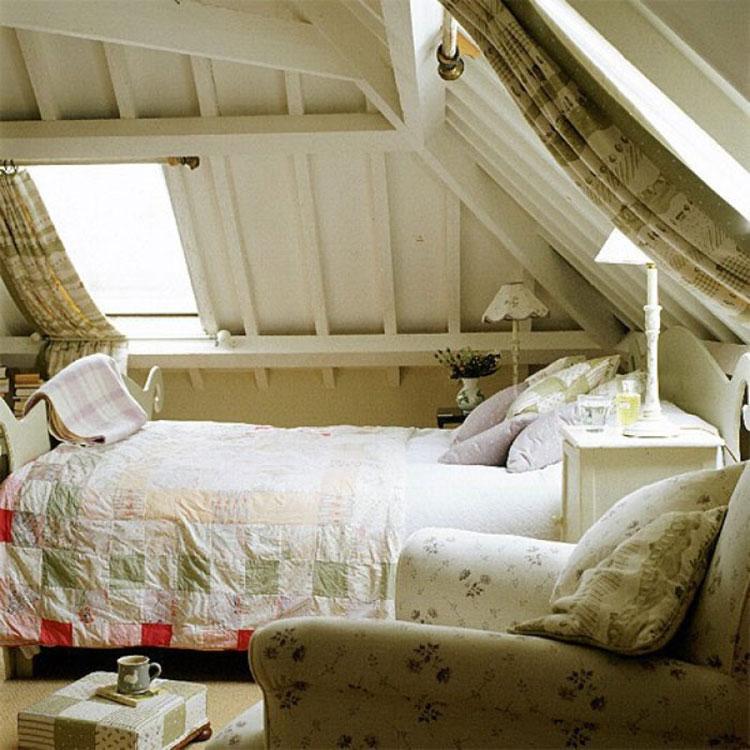 阁楼卧室装修实景图