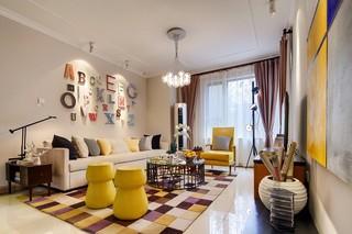 100平米多彩三居室装修效果图