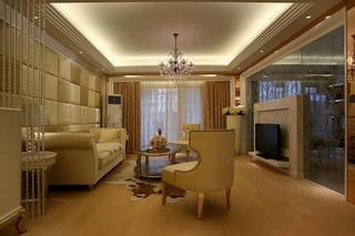 欧式风格三居室装修效果图