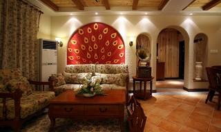 地中海混搭三居室装修效果图