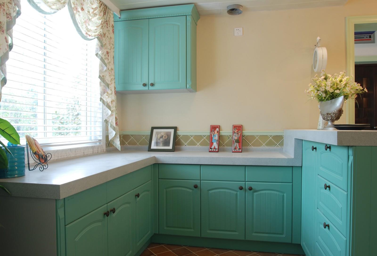 三居室田园风格厨房装修效果图