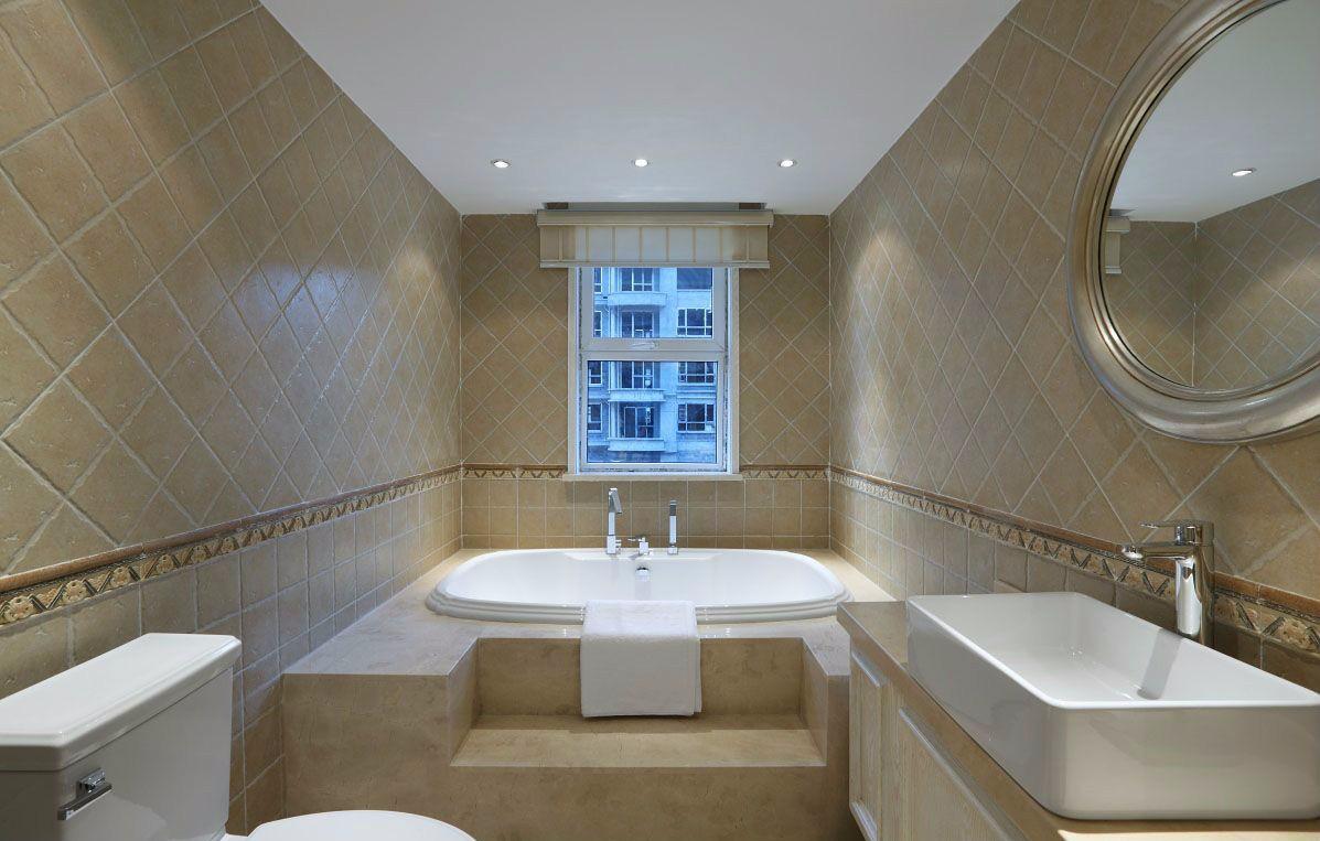 三居室美式田园风格卫生间装修效果图