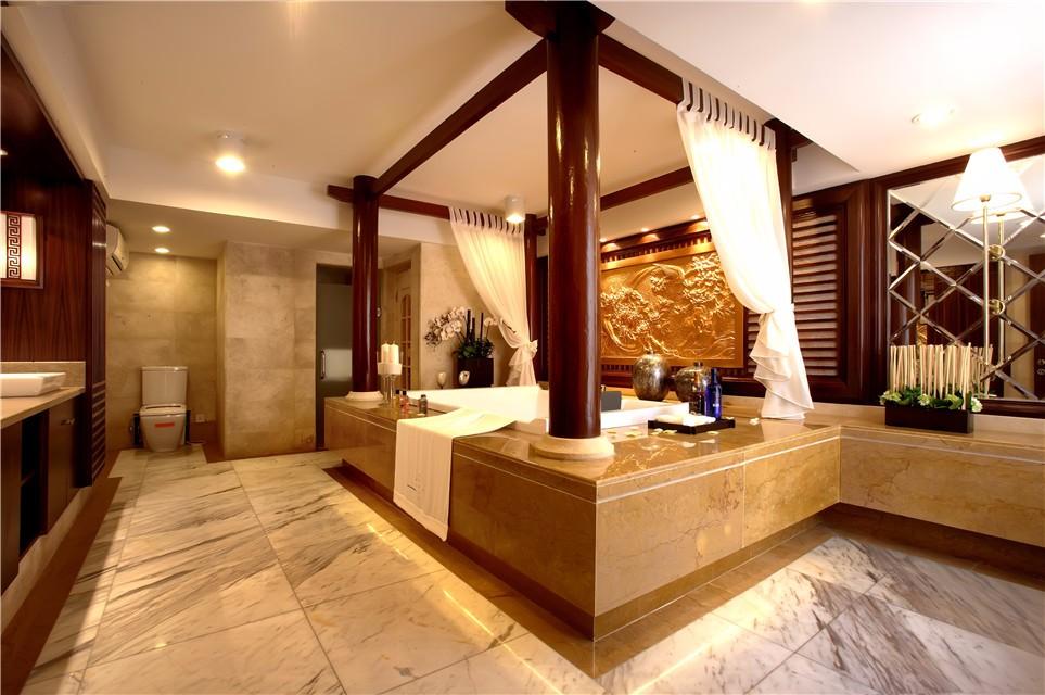 现代中式风格别墅卫生间装修效果图