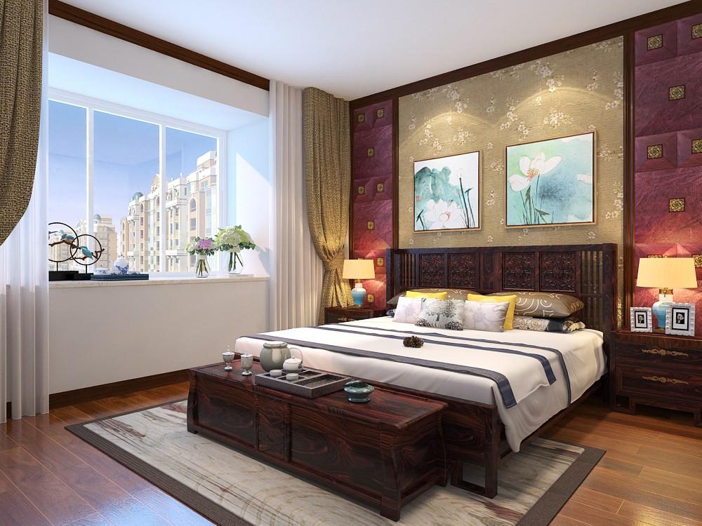 新中式风格卧室装修设计效果图