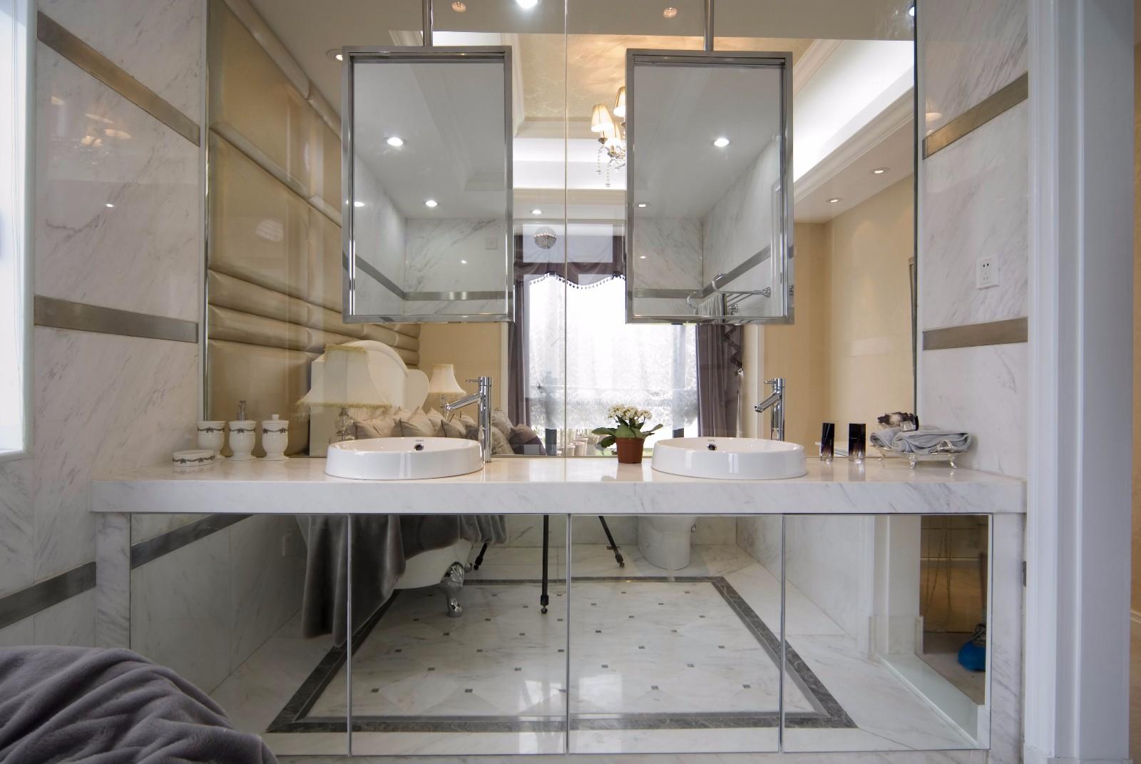 简欧风格四居室洗手台装修效果图