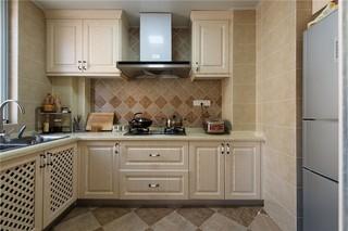 123平美式风格厨房装修效果图