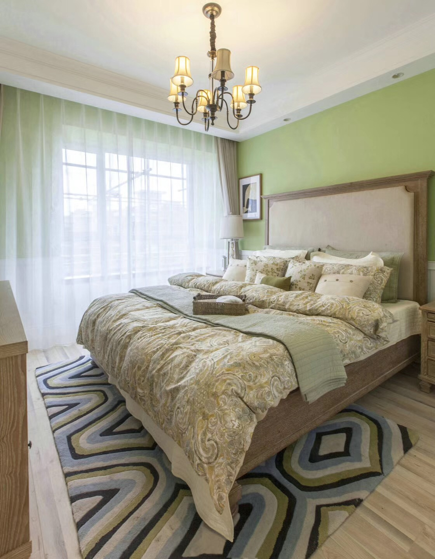 105㎡美式乡村风格卧室装修效果图
