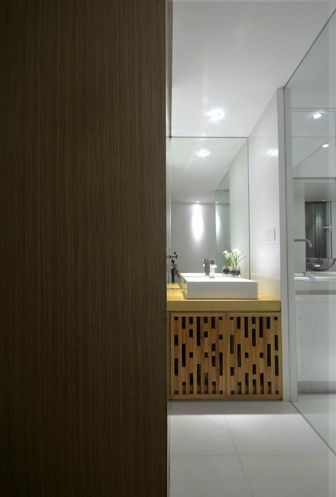 简约日式风格洗手台装修效果图