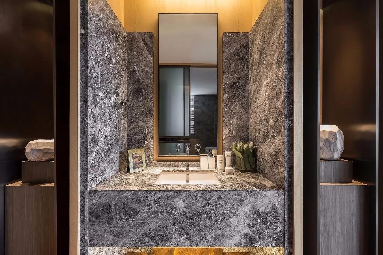 新中式风格别墅卫生间装修设计图