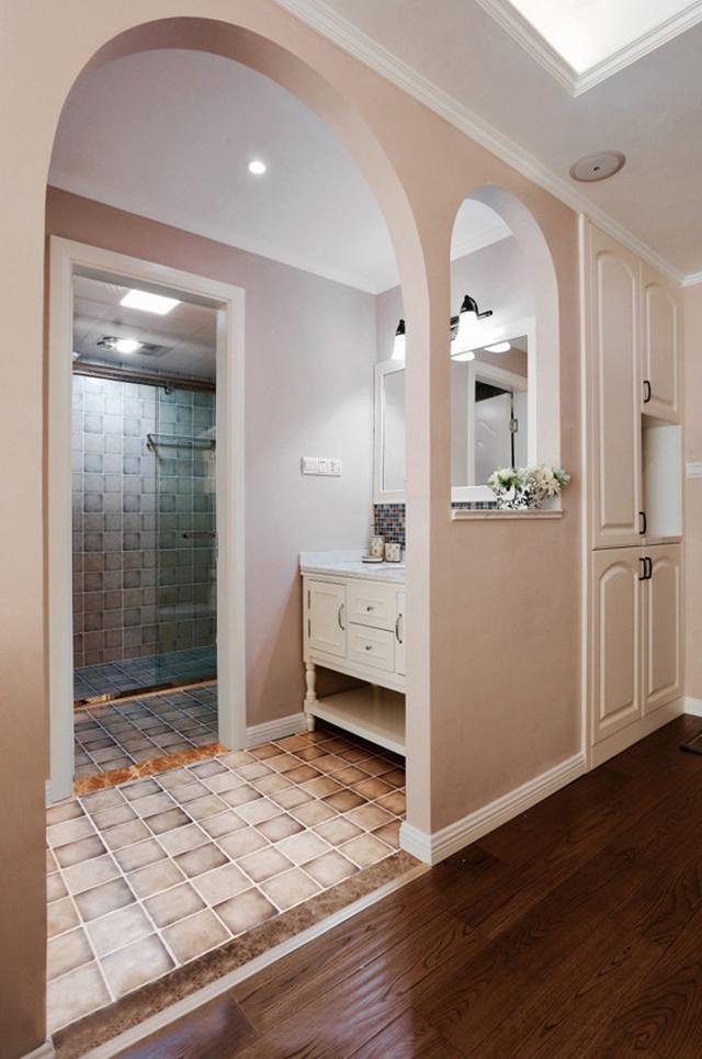 二居室简美风格拱门装修效果图