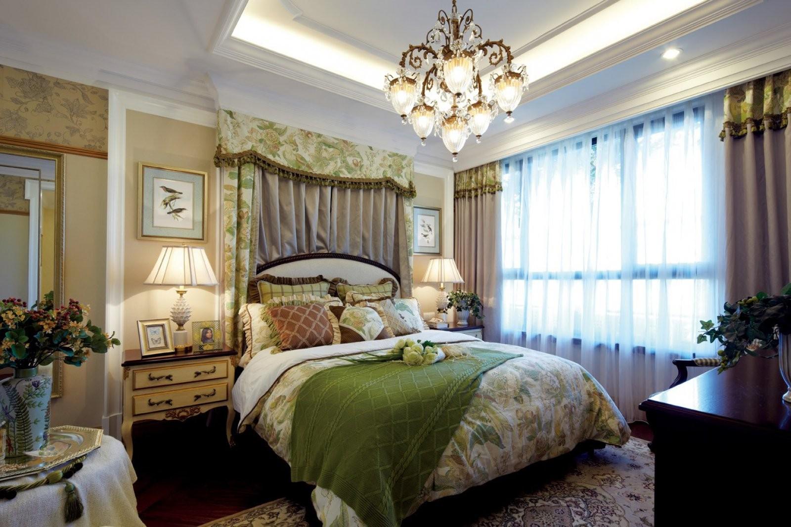 欧式田园混搭风格卧室装修效果图
