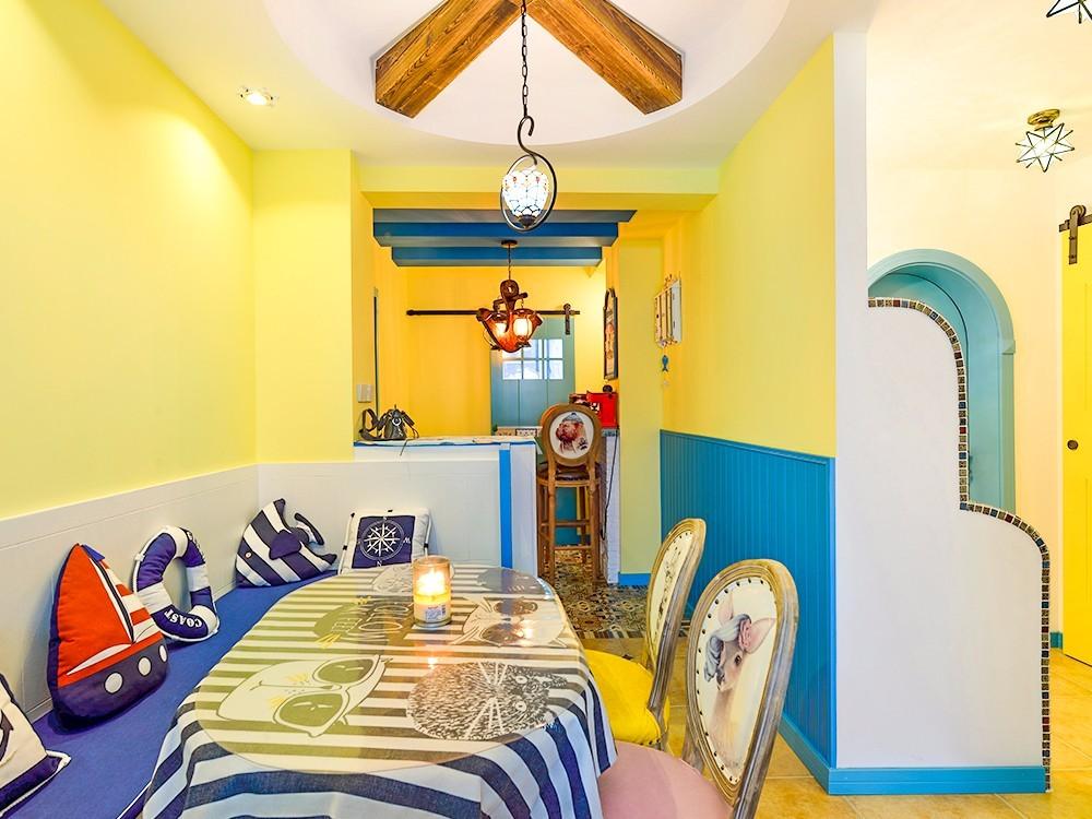 88平地中海风格餐厅装修效果图
