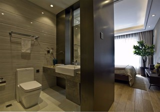 大户型新中式样板房卫生间装修效果图