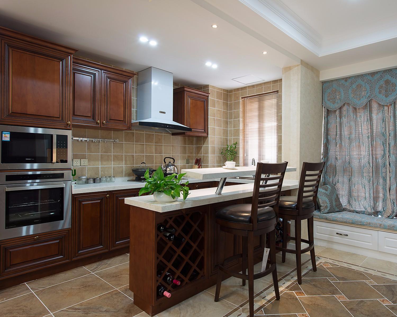 139㎡美式风格厨房装修效果图