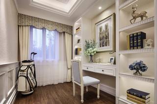 欧美风格三居室书房装修效果图