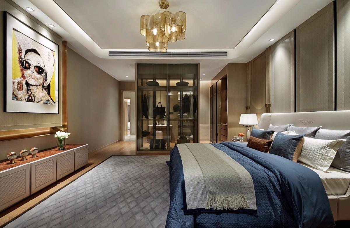 后现代奢华样板房卧室装修效果图