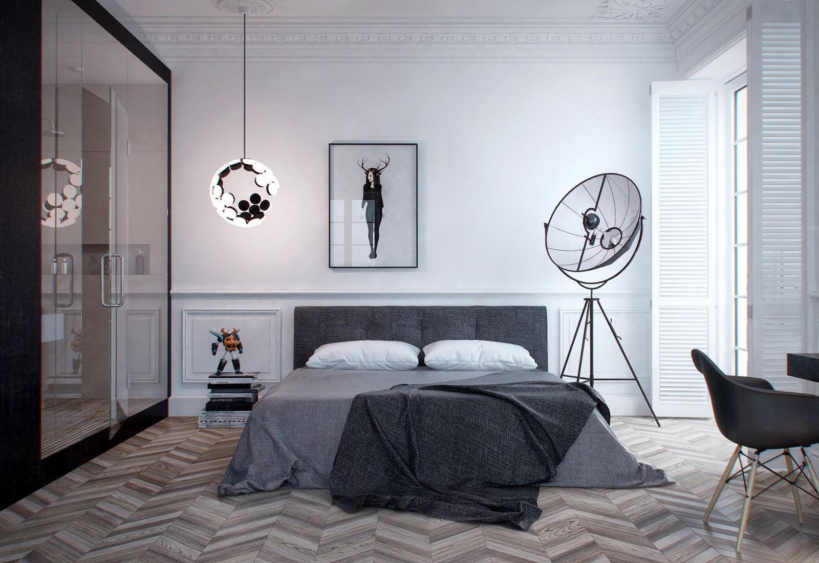 一居室简约风公寓卧室装修效果图