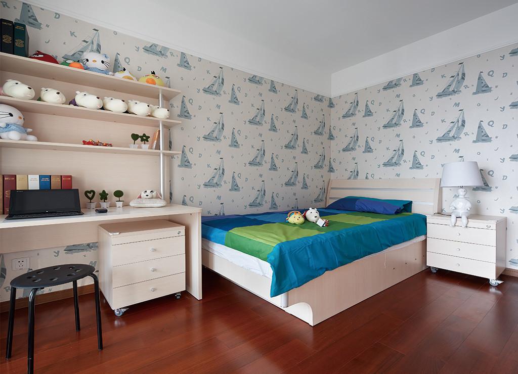 140㎡现代简约儿童房装修效果图