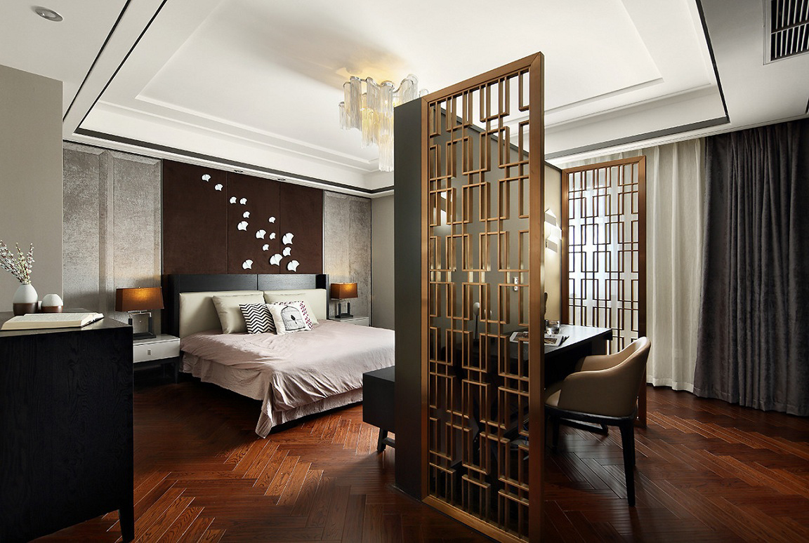 主大户型现代别墅卧室装修效果图