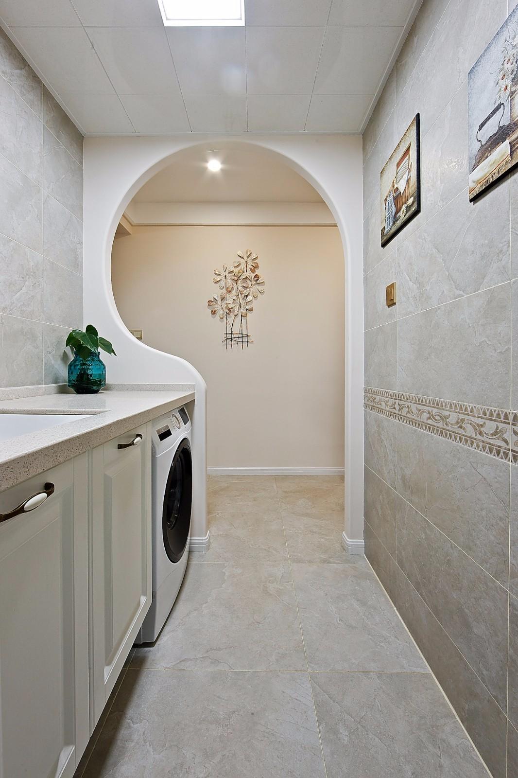 105㎡美式风格洗手台装修效果图