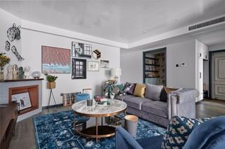 三居室北欧混搭客厅装修效果图