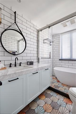 三居室北欧混搭卫生间装修效果图
