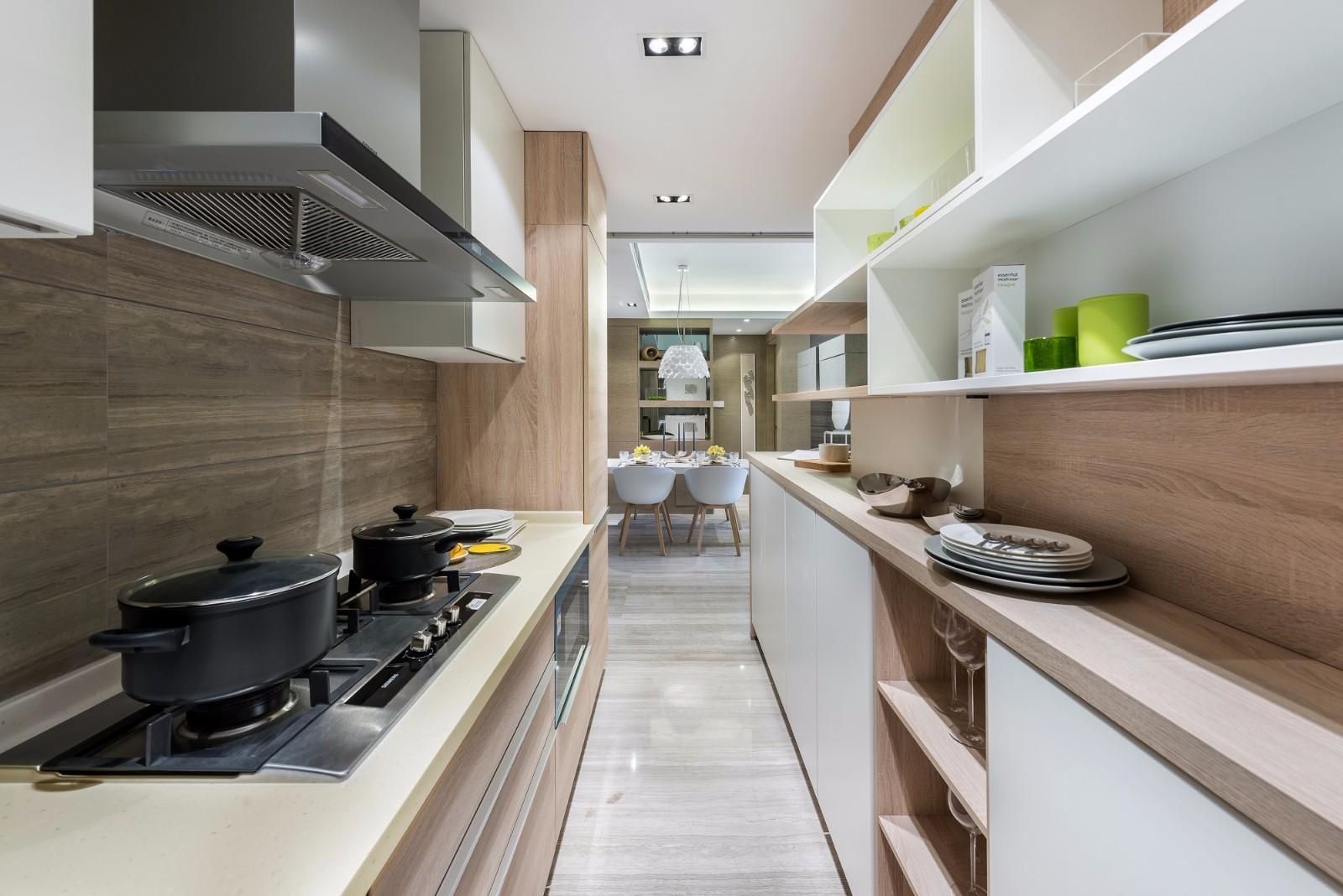 110平现代风格厨房装修效果图