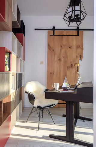 三居室混搭风书房装修效果图