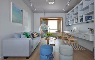 三居室简约风格客厅装修效果图