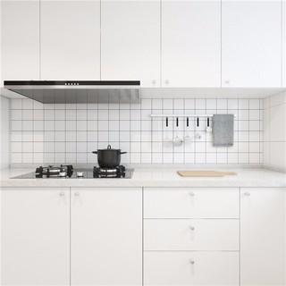 一居室小户型简约风白色厨房装修效果图