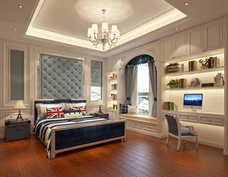 欧式豪华别墅卧室装修效果图