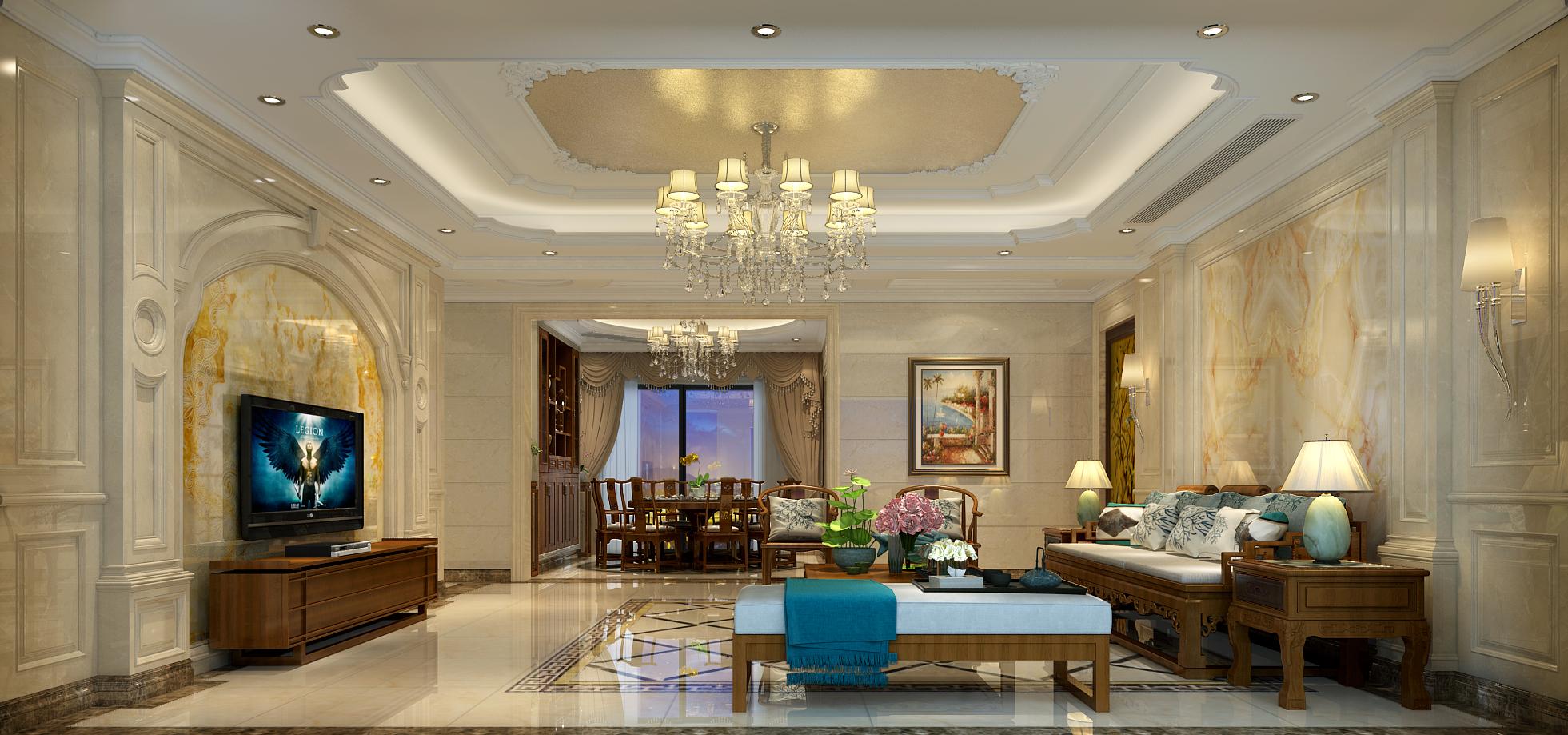 大户型豪华欧式风格客厅装修效果图