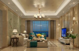 欧式风格三居客厅装修效果图