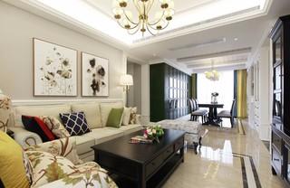 三居室美式风格装修效果图
