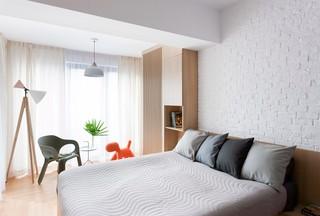 简约原木风公寓卧室装修效果图