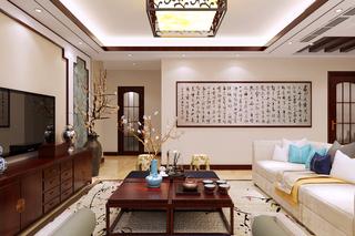 130㎡新中式客厅装修效果图