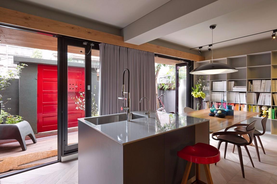 混搭风格公寓厨房装修效果图