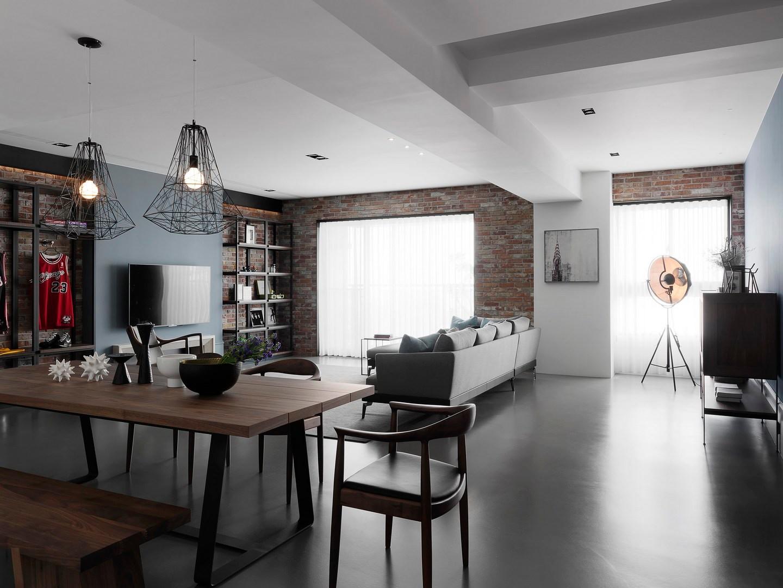 三居室北欧风客餐厅装修效果图