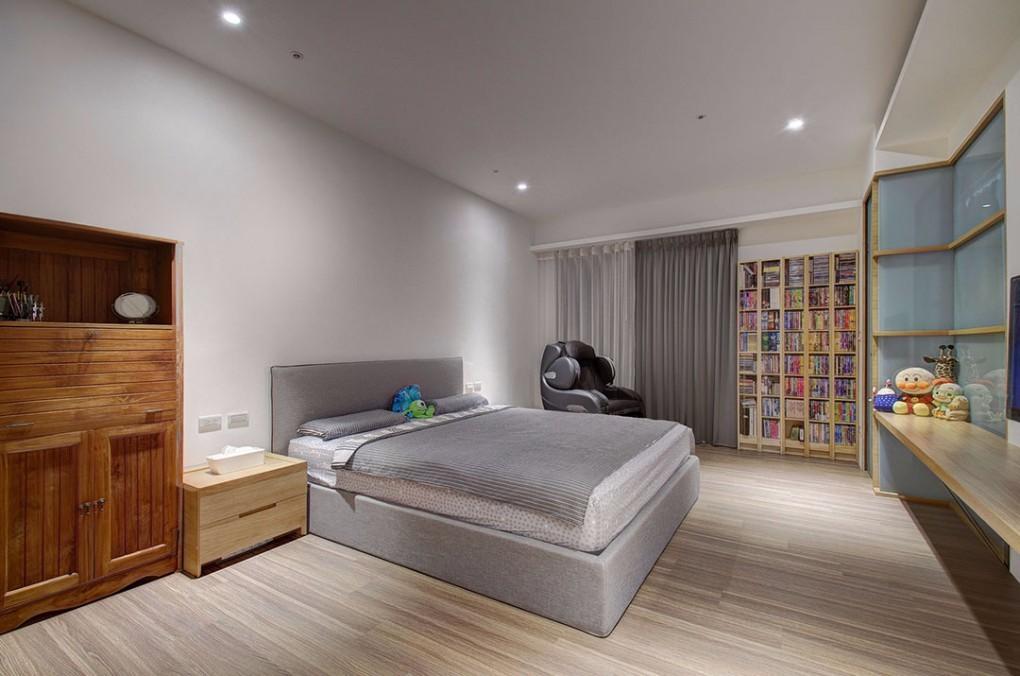 120㎡简约现代卧室装修效果图