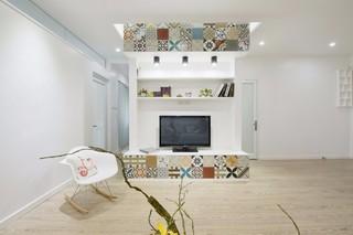 简约风格公寓电视墙装修效果图