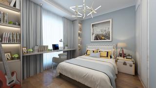 三居室现代简约风格卧室装修效果图