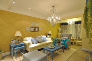 地中海风格二居室沙发背景墙装修效果图